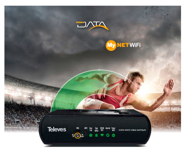 Televes Coaxdata 1Gbps-HDTV COAXIAL 4xETH + WIFI